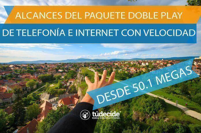 Alcances del paquete de telefonia e internet con velocidad desde 50 megas