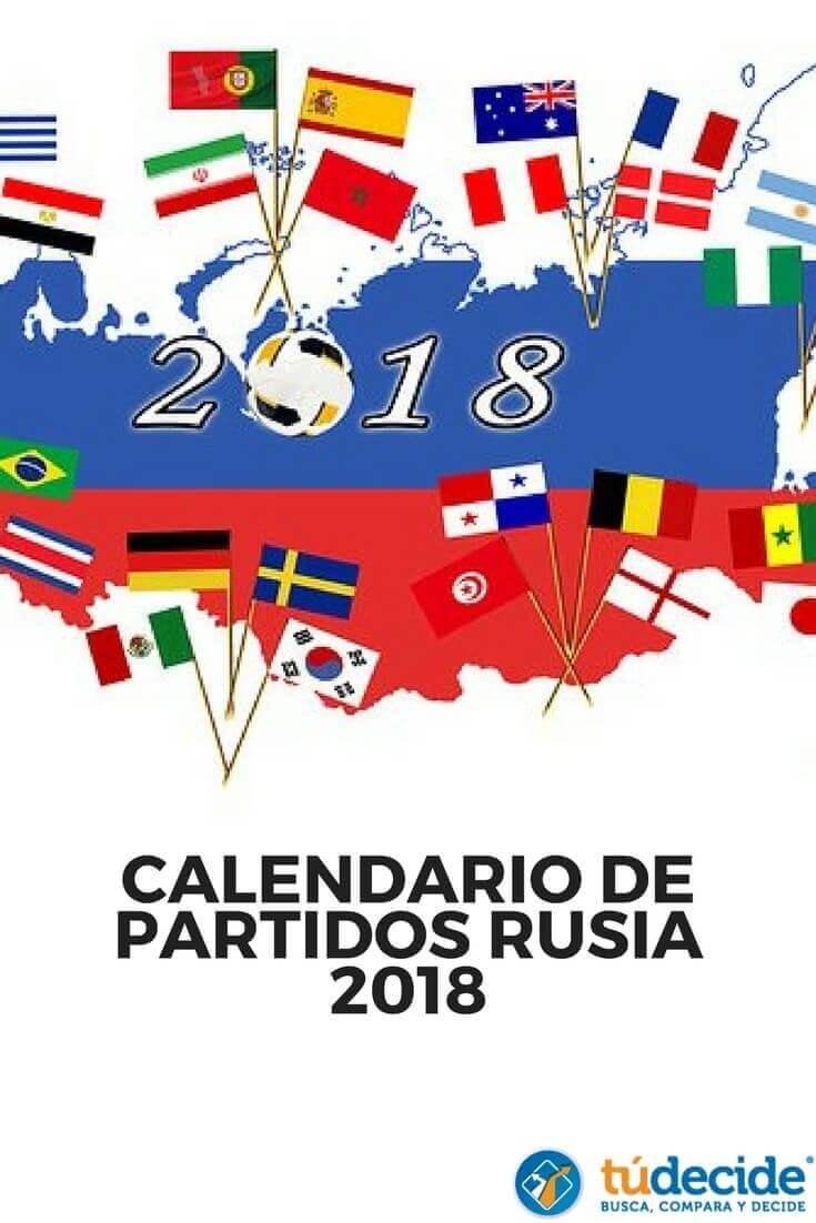 Calendario de partidos del Mundial Rusia 2018 y dónde verlos