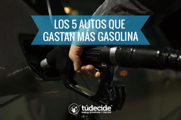 Autos que gastan más gasolina