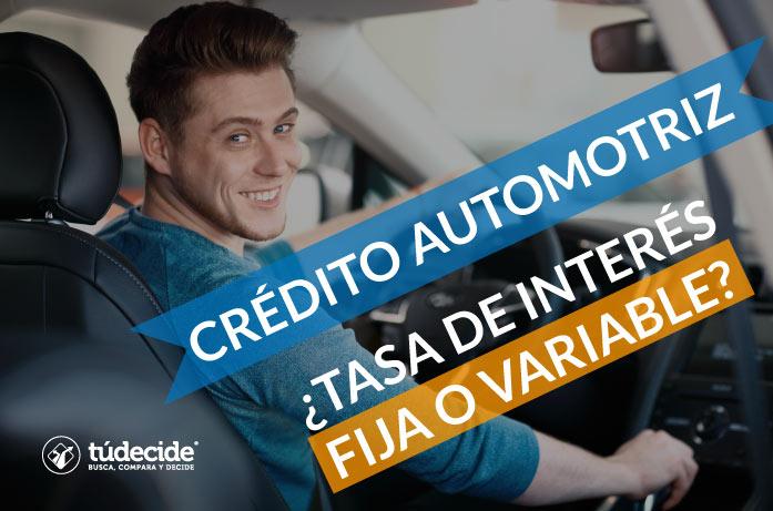 Crédito automotriz tipos de tasas